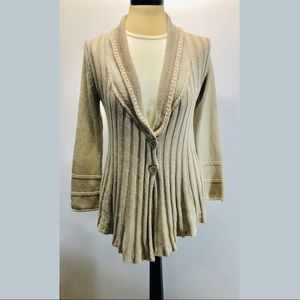 Mark And Spencer Tan Cable Knit Sweater & Scarf